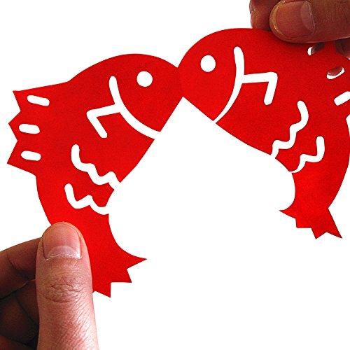 diy新年剪纸手工材料包 儿童羊年自己剪窗花福字装饰贴 春节礼物 (喜