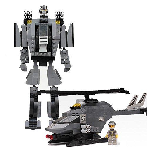 乐高式拼装玩具 塑料拼插益儿童智积木玩具 (可拼机器人或直升飞机