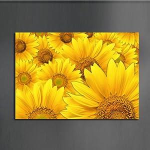 美时美刻 餐厅玄关壁画向日葵装饰画洗手间挂画家居墙壁挂画单幅 黄色