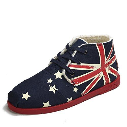 Tt&Mm 汤姆斯 日常休闲男鞋 保暖加绒男士帆布鞋 系带高帮鞋冬季棉鞋 TM29001M