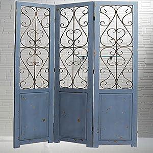 smayer 施麦尔 欧式 时尚屏风铁艺隔断墙实木框客厅进门玄关风水屏风