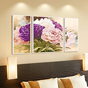 客厅装饰画现代简框三联画沙发背景墙有