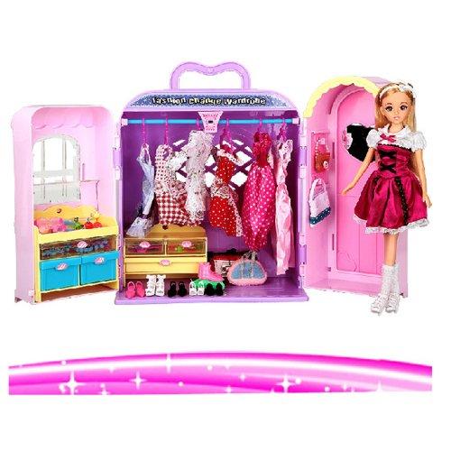 新款 乐吉儿女孩芭比娃娃 家具系列 梦幻衣柜礼盒套装