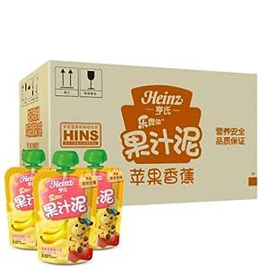 Heinz亨氏乐维滋果汁泥-苹果香蕉120g*24(12个月以上)