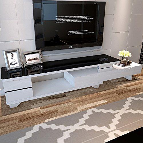 电视柜客厅现代简约钢化玻璃视听柜 小户型白色黑色钢琴烤漆创意影视