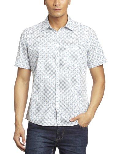 Esprit 埃斯普利特 男式 时尚印花纯棉短袖休闲衬衫 SD0924H