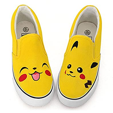 卜丁 卜丁春手绘鞋a01201可爱涂鸦鞋黄色套脚涂鸦鞋帆布鞋平底女鞋