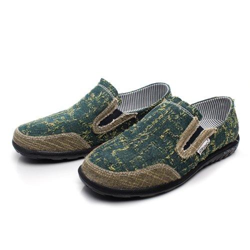 NORVINCY 诺凡希 帆布男 男士英伦鞋韩版流行男鞋 拼色透气鞋子男 NVC12015 3.28
