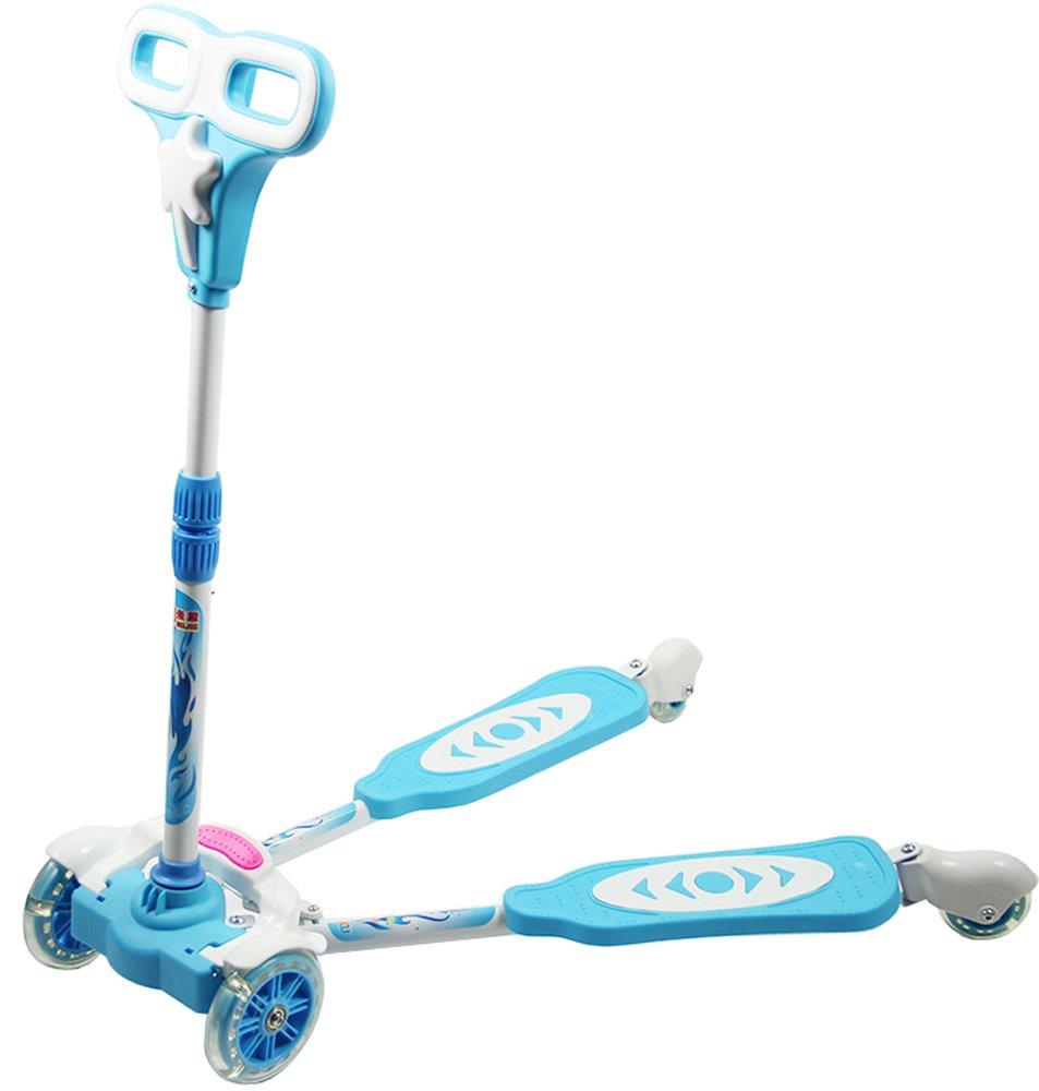 leaun 乐昂 (米捷系列)四轮蛙式滑板车 可调节高度闪光带刹车儿童手扶