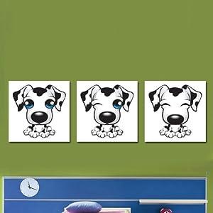 卡通动物壁画可爱小狗宝宝房间装饰画幼儿