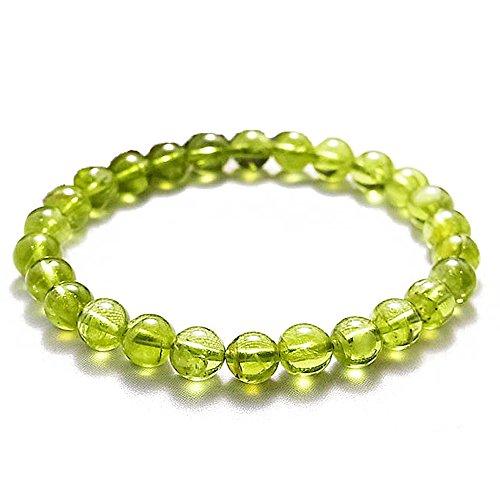 BINGKO 冰珂 橄榄石 圆珠手链绿色橄榄石 辟邪聚财 安神静心有助于睡眠且能吸引贵人前来相助-图片