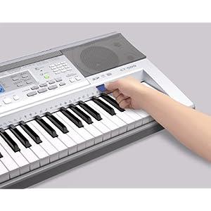 卡西欧电子琴型号:ct-599钢琴琴键外观键盘,注册记忆功能,一键大钢琴