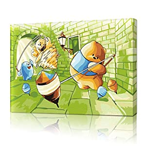 佳彩天颜 diy数字油画手绘画 儿童房间卡通 卧室装饰画 欢乐旋转 其他