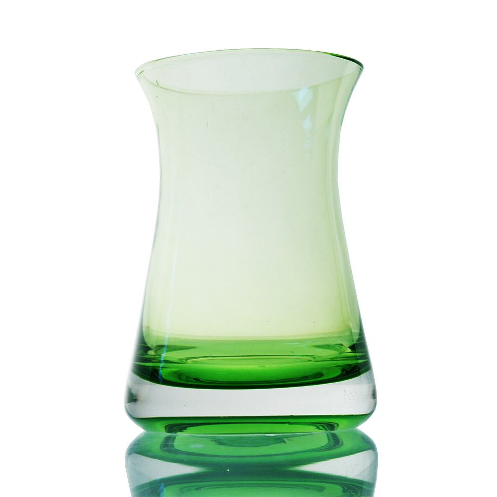 wuse 吾舍 欧式简约风格 吹制草绿色玻璃台面花瓶 水培植物瓶 装饰瓶