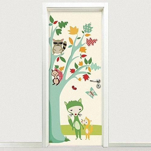 客厅卧室儿童房卡通室内专用门贴图片