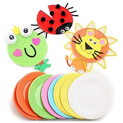 七色花 幼教 幼儿园 diy 手工 美术 创意 制作 材料 彩色 纸盘 纸碟