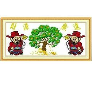 印象 精准印花十字绣 财源广进 摇钱树 MA219 尺寸105 47cm怎么样,图片