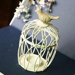 玉曦影 正品 欧式铁艺小鸟笼烛台 花盆 拍摄道具 一个