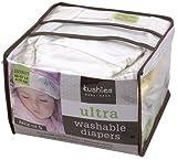 Kushies 5 包装 可重复使用极其轻柔纸尿裤 什锦 22-22 磅/10-10 千克