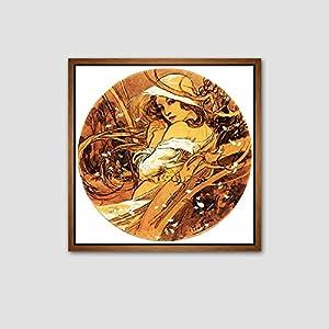 天海画艺 欧式古典客厅餐厅装饰画三联人物挂画沙发墙