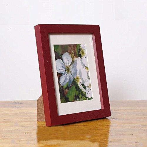 diy照片墙 高档加厚实木相框 (仿红木, 5寸)图片