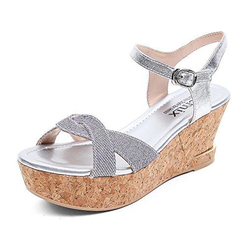 Teenmix 天美意 天美意夏季专柜同款羊皮女皮凉鞋专柜 6YS03BL5