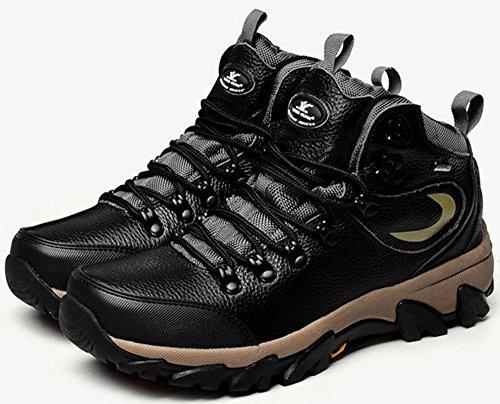 xiangguan 祥冠秋冬新款马丁靴 高帮户外登山鞋 头层牛皮防水短靴