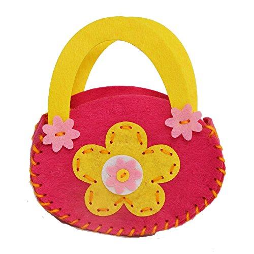 孩派 幼儿园手工制作 儿童diy手工材料 无纺布不织布 手工包包 (小花)