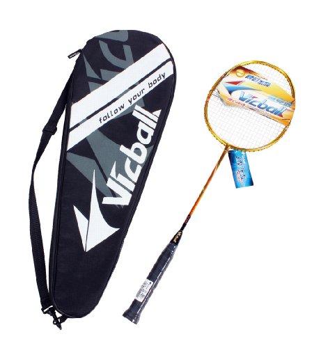 5AFIT 我爱健身 全碳羽毛球拍 专业球拍 专业级 粉丝级专用球拍 (金黄(101))-图片