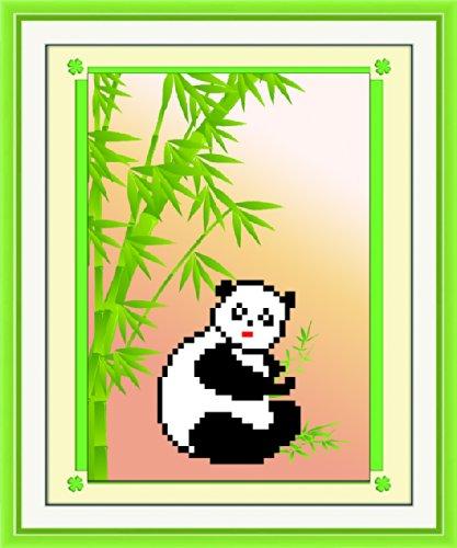 贴心猫 迷你diy钻石画 维尼熊 客厅 卡通动漫 圆钻画 随机赠送相框