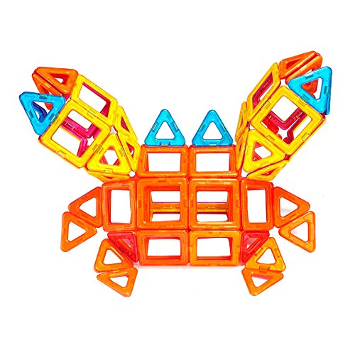 磁力构建片磁力贴 立体提拉玩具 儿童益智磁力积木 mb71 24片经典造型