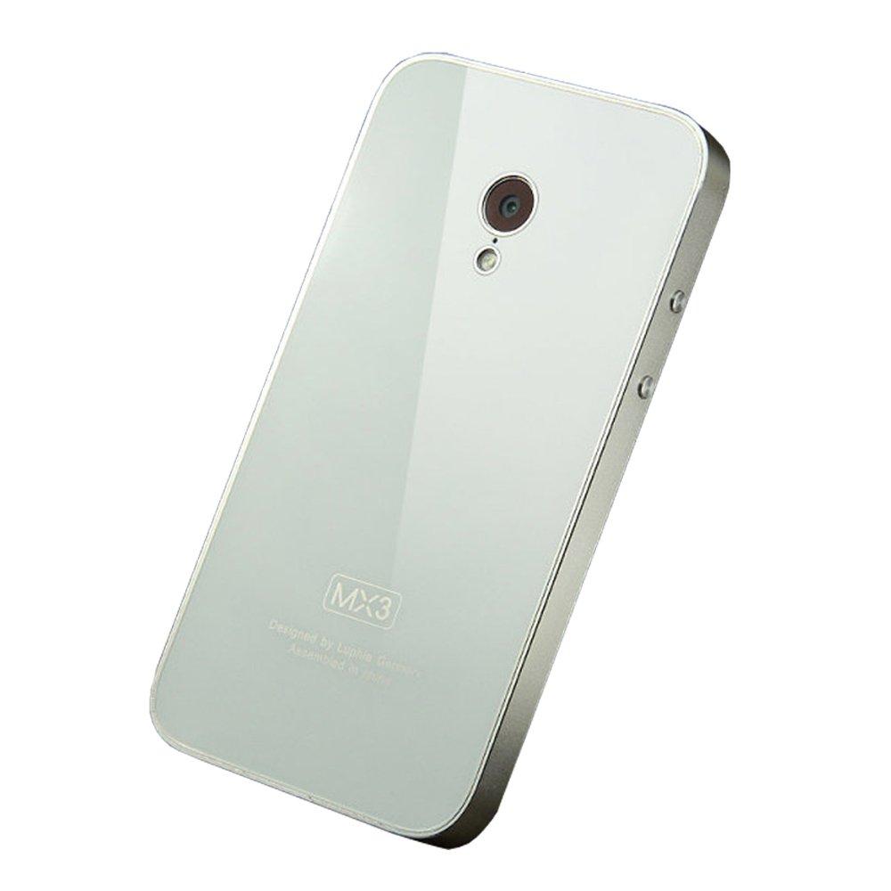 金属手机套 手机套 送(手机贴膜 按键贴 防尘布 电容笔/绕线架) (白色