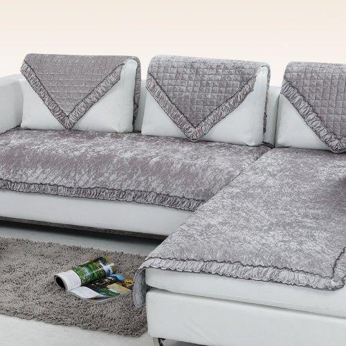 宝家丽 加厚短毛绒沙发垫布艺坐垫实木沙发垫定做皮沙发垫坐垫防滑