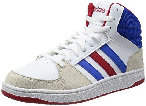 Adidas NEO 阿迪达斯运动生活 BASKETBALL 男 休闲篮球鞋 VLHOOPS MID F38431 FTWR 白/蓝/校园红 45 (UK 10-)