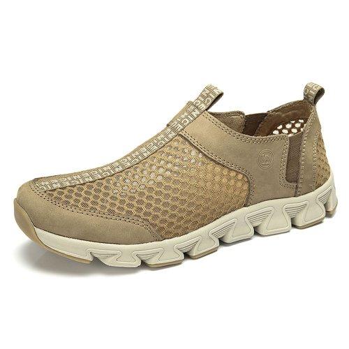 Camel 骆驼牌 男士运动鞋休闲鞋夏季网鞋男鞋大码透气潮流板鞋男透气鞋子 W32396018