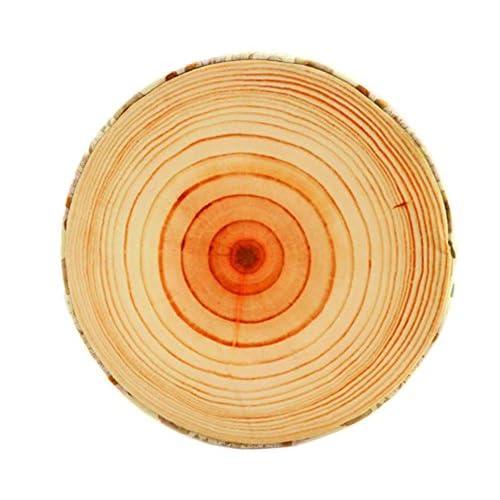 创意毛绒玩具 个性创意木头桩毛绒玩具 砧板大树抱枕 梧桐树坐垫 年轮