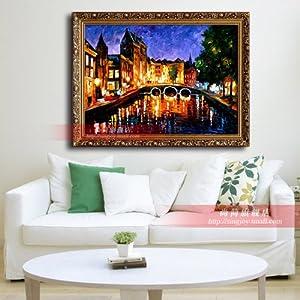 家居客厅欧式壁挂装饰纯手绘油