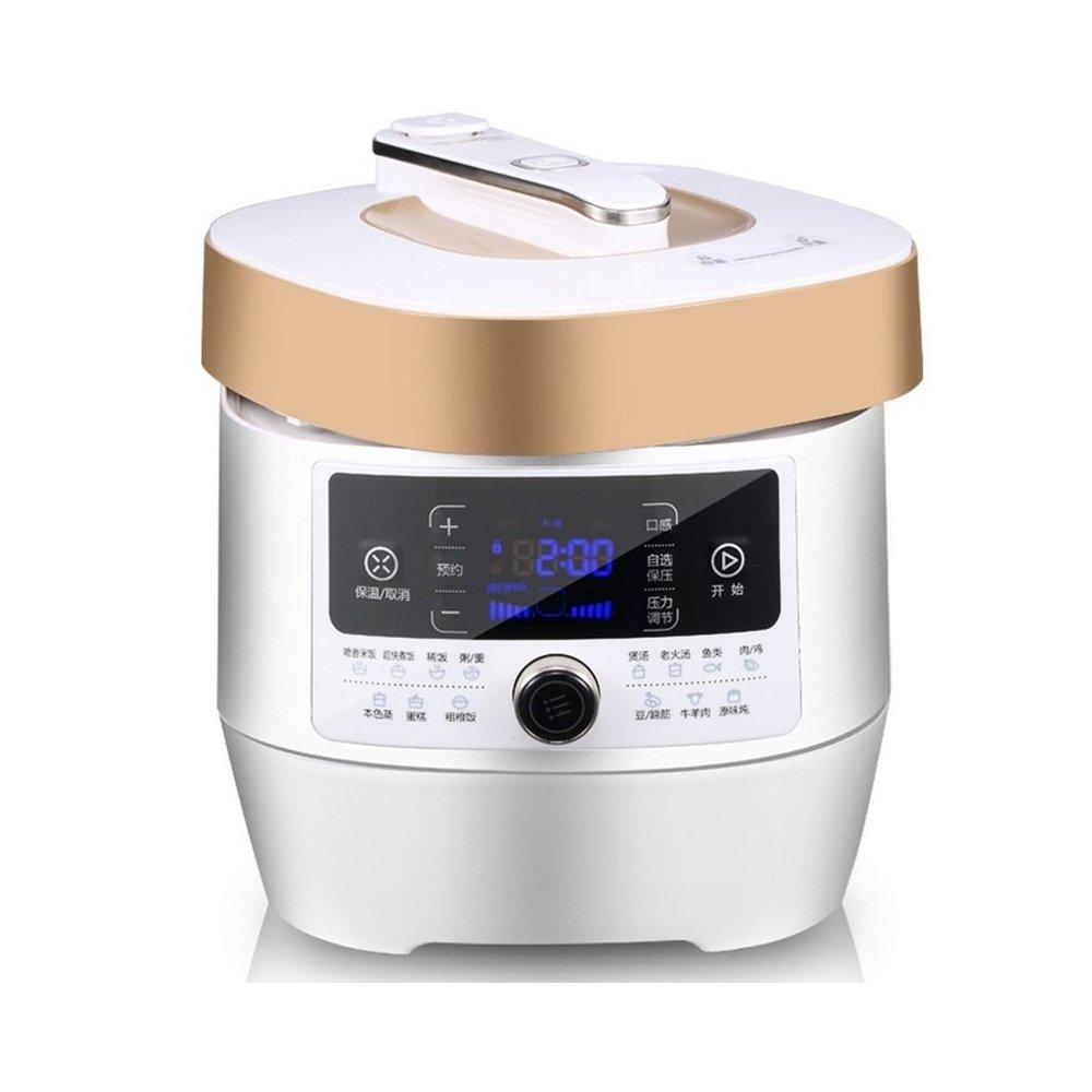 midea美的电压力锅wss5063p(5升 双胆 24小时预约 香槟金)