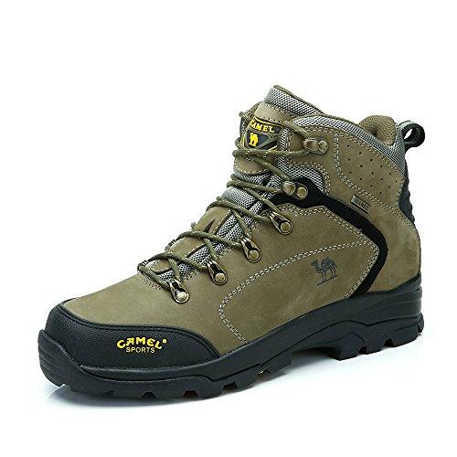 Camel 骆驼 户外徒步登山鞋 2014新品男款头层牛皮高帮防滑保暖登山鞋A432026085