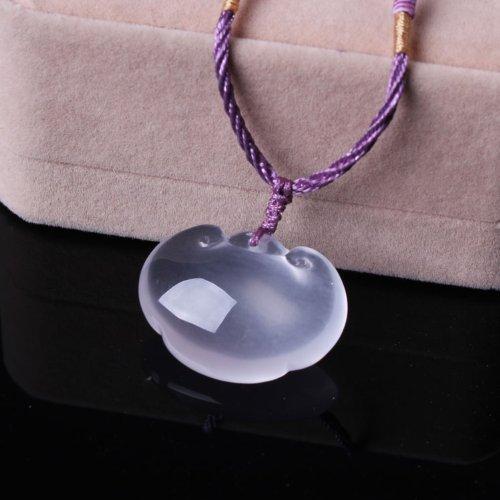 晶隆福 天然冰种粉水晶如意吊坠 颜色粉嫩 朦朦胧胧 带来爱情 助事业 增添魅力-图片