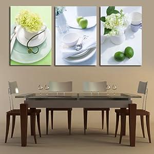 现代餐厅饭店墙壁装饰挂画摄影无框画厨房