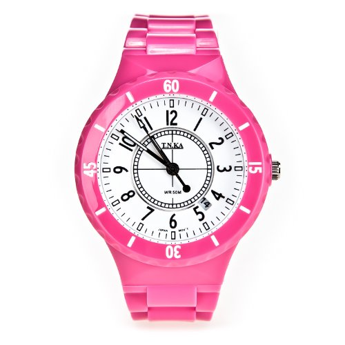 【顺丰包邮】T.N.KA 塔拉卡 创新由我 百搭风格 随我所换 百变系列电子表 真正防水的电子手表【一年质量问题包换 终生保修】 (粉色)-图片