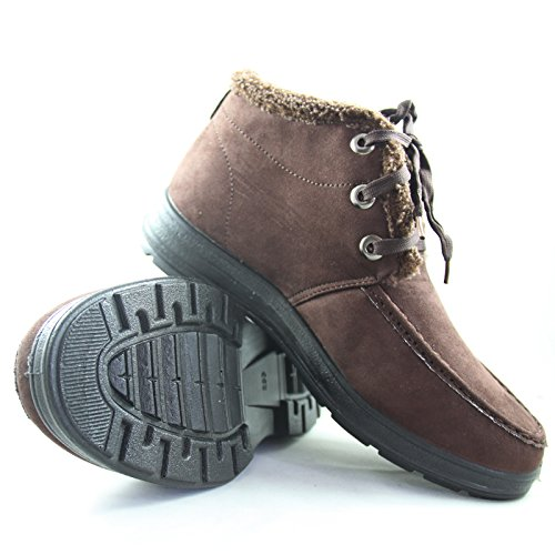 玉兰 老北京 布鞋 男款 冬季 高邦 翻毛 加厚绒 系带 休闲鞋1616-113