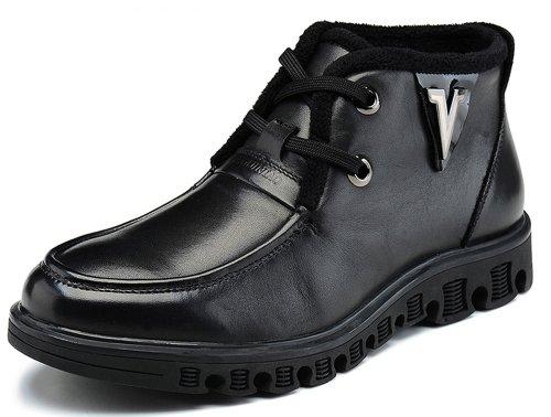 FGN 富贵鸟 2014新款潮流休闲高帮鞋 加绒保暖男靴子D305625C