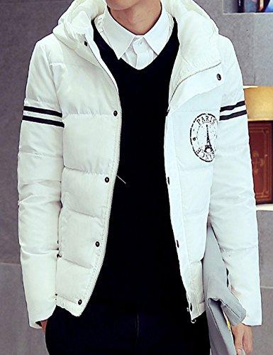 Uyuk 有衣有靠 冬季男士棉衣 韩版修身加厚棉服外套铁塔印花休闲保暖棉袄 Y915
