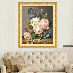 kx 精准印花娇艳欲滴玫瑰最新款十字绣餐厅油画花瓶客厅系列shizixiu