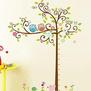 凡雅空间 花藤 儿童墙卡通树 五代可移除墙贴