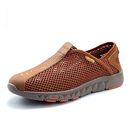 MULINSEN 木林森 夏季男士透气网面休闲鞋 网布徒步鞋运动鞋户外登山涉水溯溪男鞋 套脚潮鞋低帮凉鞋