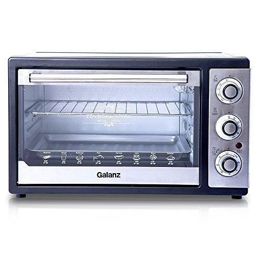 Galanz/格兰仕电烤箱KWS1528LQ-F2E(XP)(28L大容量家用全能电烤箱,多层烤位,360°旋转,照明炉灯,热风对流,低温发酵,高档不锈钢面板,环保不沾油内胆)-图片
