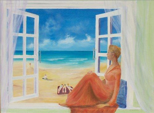 戈雅 看海的女人,高档纯手绘无框油画,尺寸:50x60cm